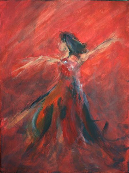 Dancer in motion by Marc Riley