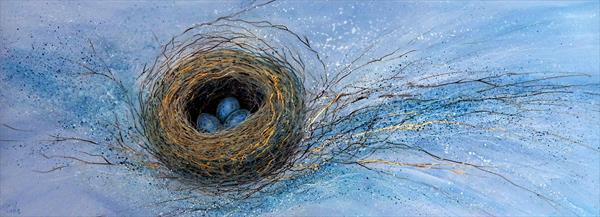 Bird's Nest on Gold by Denise Coble