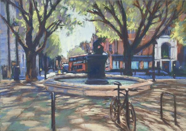Lone Bicycle on Sloane Square by Louise Gillard