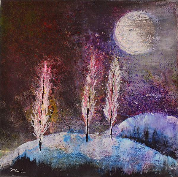 Winter Cypresses by Tracey Unwin