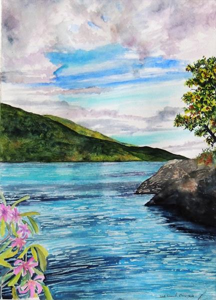 Mid-summer , Loch Lomond, Stirlingshire by Elizabeth Sadler