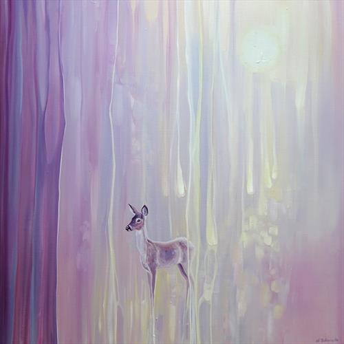 Beautiful - an abstract with deer by Gill Bustamante