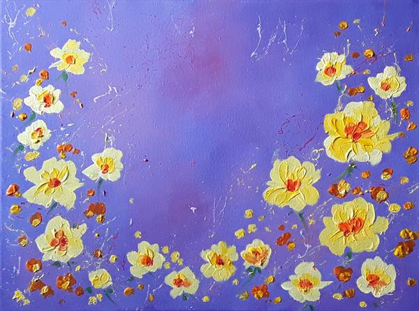 Wild Yellow Roses by Angie Livingstone