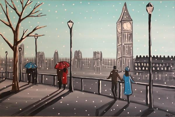 Snowing In London 8 by Aisha Haider