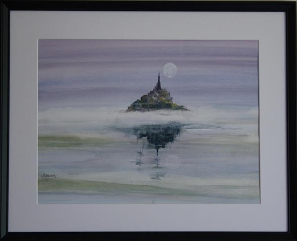 MONT St MICHEL AT SUNRISE by Victoria Meering