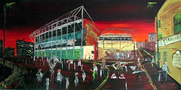Newcastle Football Club By Night by Andrew Alan Matthews