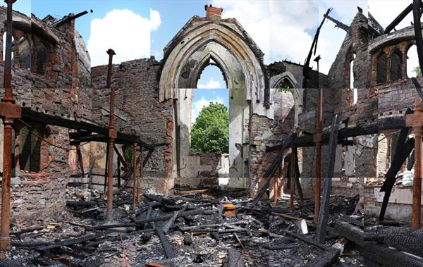 The Remains of St Marys Church by Jennifer Dimelow