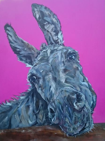 Soppy Doppy Donkey (on display at The Art Gallery, Tetbury)