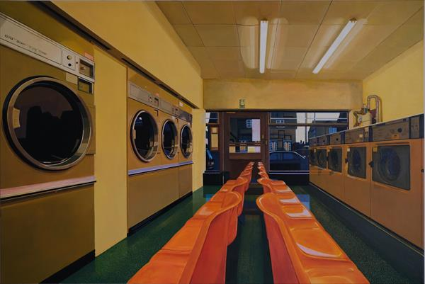 Laundrette Holbeach interior by Kevin Oldham