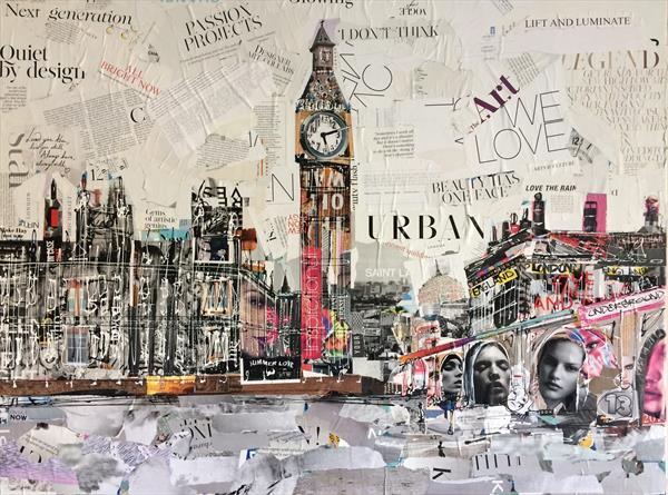 Westminster collage  by Keith Mcbride