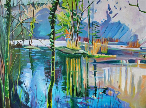 Frozen Quarry Lake  by Emma Cownie