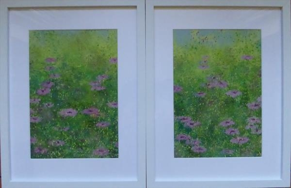 Meadow Pinks - pair by Elaine Allender