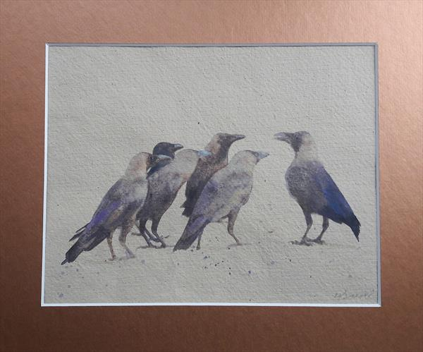 Group of Crows by Teresa Tanner
