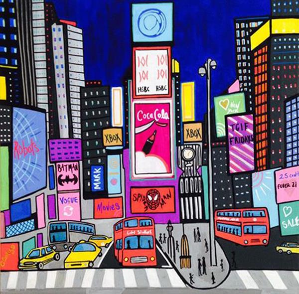 Times Square by Ashlie Urquhart
