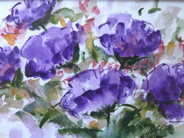 Purple Flowers by Sonal Garg