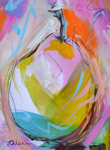 Colourful Pear I - Original Painting by Tracy - Ann Marrison