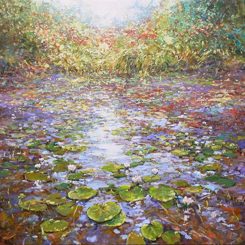 Waterlilies (On Display At the Art Gallery, Tetbury) by Mariusz Kaldowski
