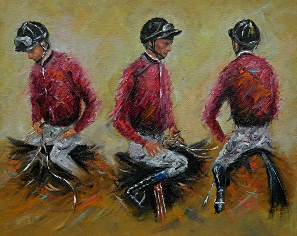 Jockeys - Study . Horse Racing by James Odubote