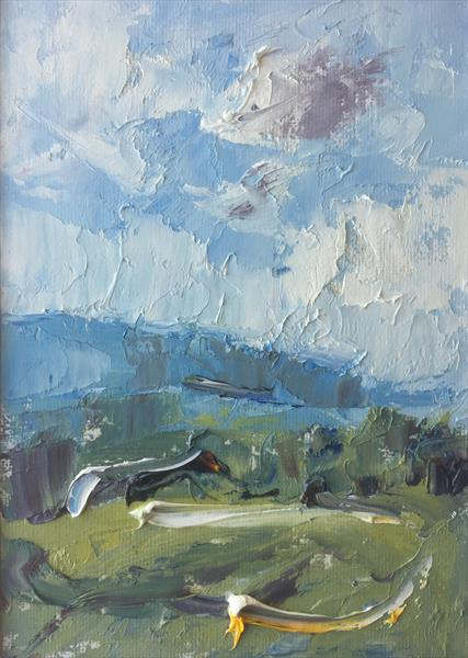 Autumn Sky, Stenbury Down by Alan Daysh