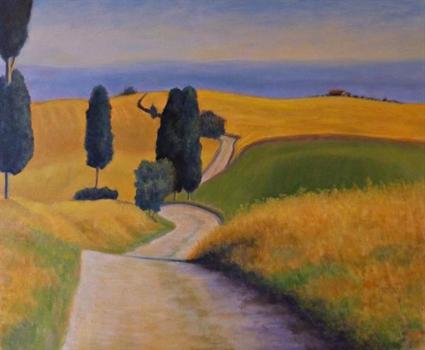 Golden Fields Tuscany by David Moore