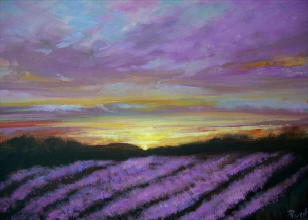 Lavender Sunset by Wendy Puerto
