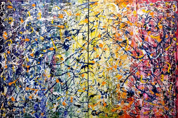 Art attack (Very Large Diptych) by Hester Coetzee