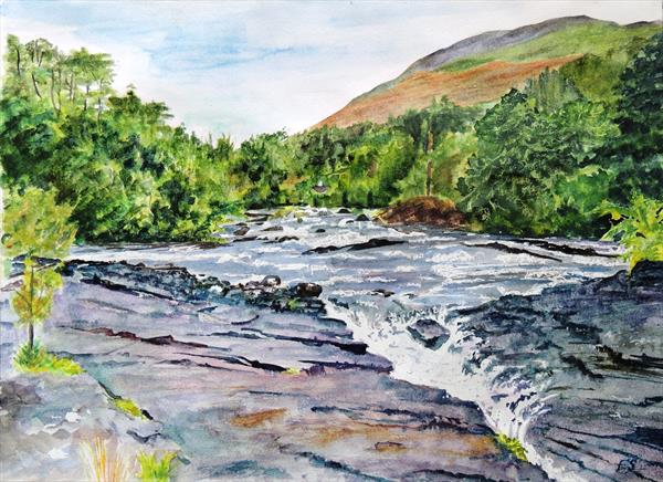 Falls of Dochart, Killin, Stirling, Scotland by Elizabeth Sadler