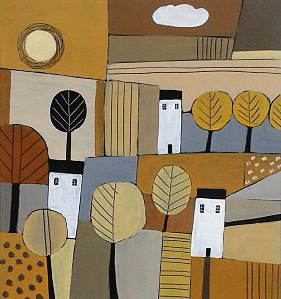 Patchwork Landscape - Autumn by Jan Rippingham