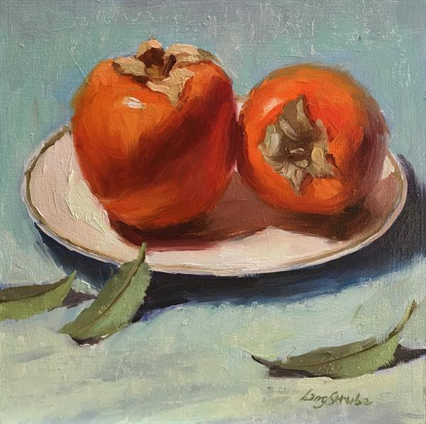 Two Persimmons by Ling Strube