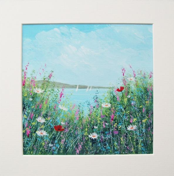 Cliff Top Wild Flowers 3# by Patricia Richards