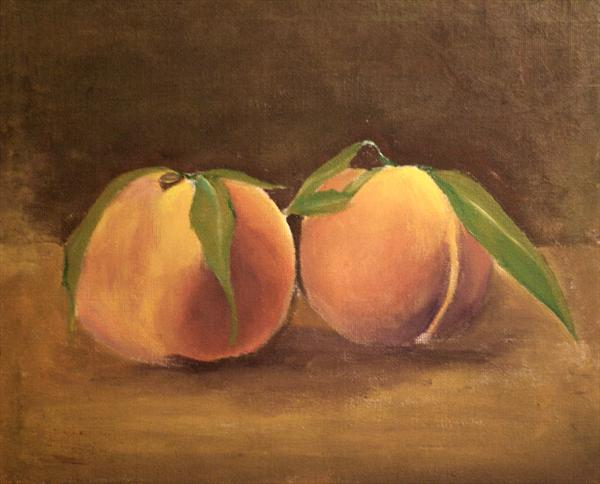 Two Peaches by Monika Hornsby