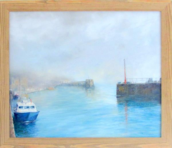 Foggy Morning - Padstow Harbour by Patricia Cunningham