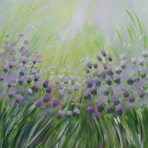 Meadow Thistles by Elaine Allender