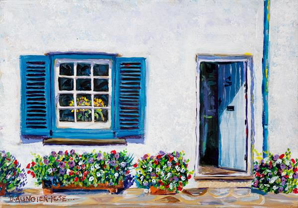 BLUE SHUTTERS, ST MAWES by Diana Aungier - Rose