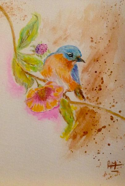 Meet Little bird in my garden by Anushree Mish