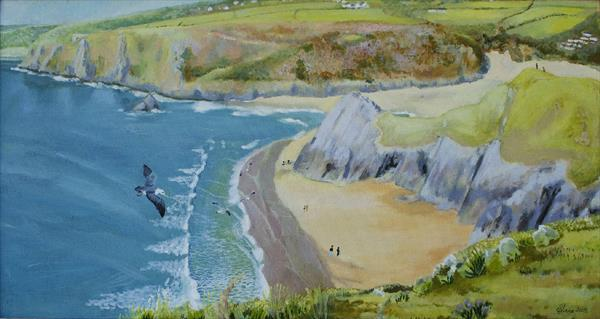 Three Cliffs, Bird's Eye View by Sue Mann