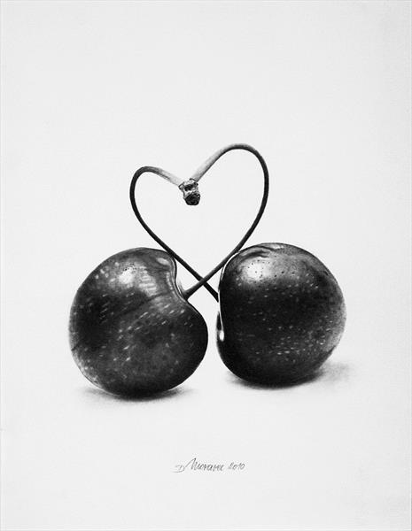 Heart Cherries by Dietrich  Moravec