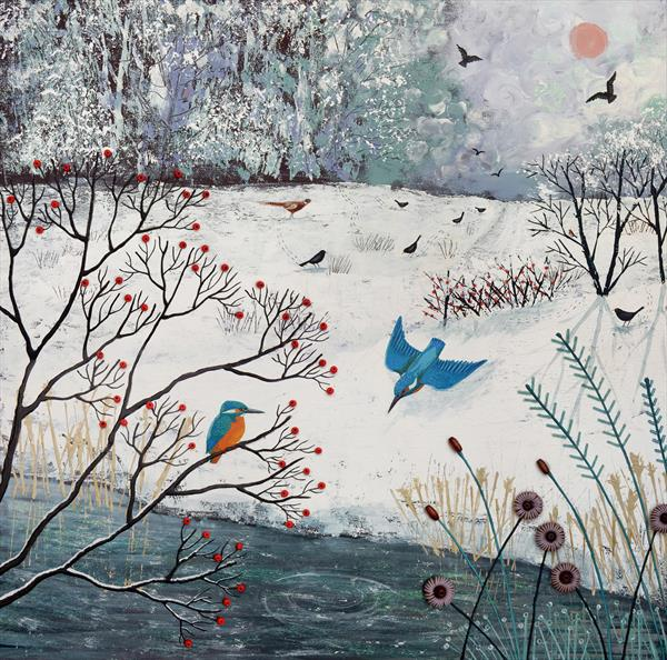 Winter Kingfishers by Josephine Grundy