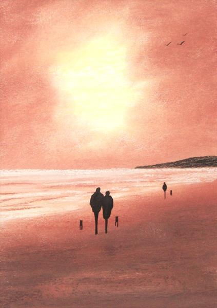 Sunset Beach Walk 2# by Patricia Richards