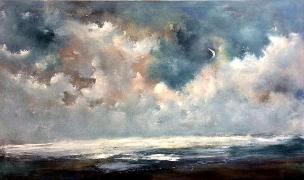 Seascape ~ It's a Marvellous Night For A Moondance  by Maxine Martin
