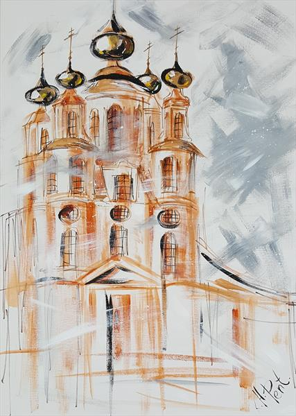 'Church of St Nicholas near Moscow' by Kat  Herrgott-Penter