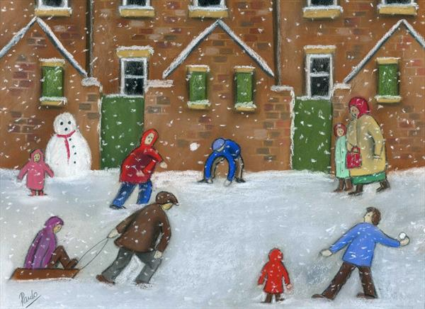 Snowball Fight by Paul Oughton