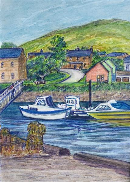 Helmsdale, Scotland by Sheila Vickers