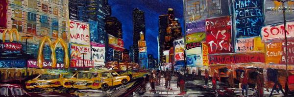 New York Times Square by Night by Andrew Alan Matthews