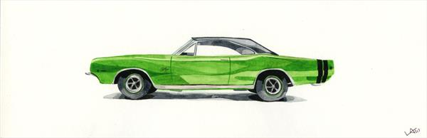 Dodge Charger American Muscle Car  by Leigh  Townsend