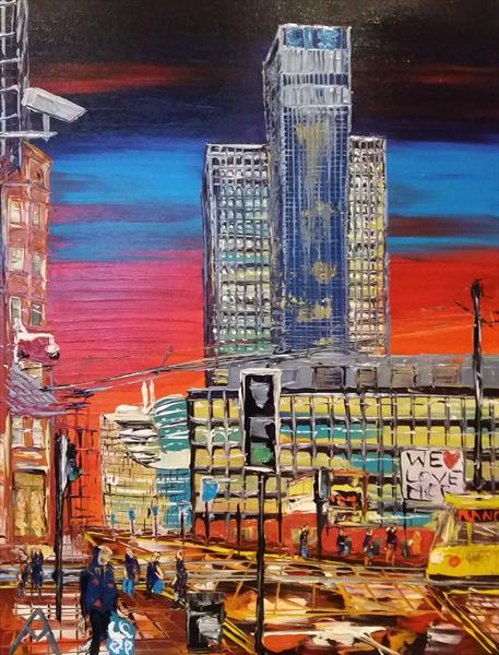 CIS Tower love Manchester by Dusk by Andrew Alan Matthews