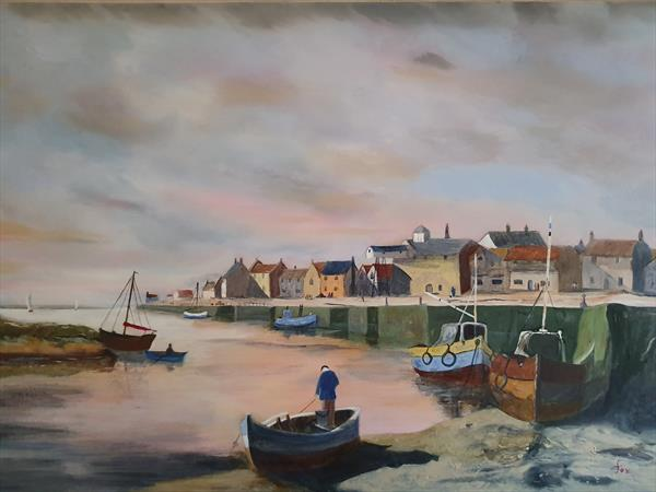 Crab Supper in Wells Next the Sea by Stephen Fox