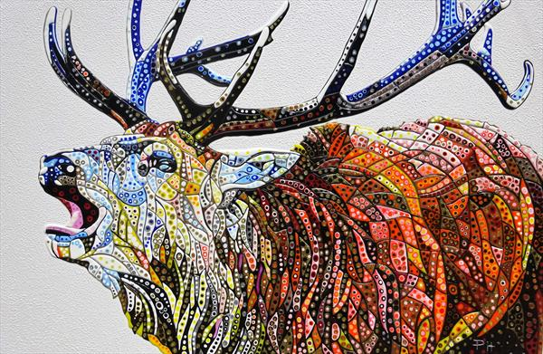 Abstract Deer 19 (Sculptural) by Paula Horsley