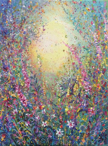 Colourful Meadow II by Janice  Rogers