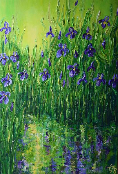 Reflecting Irises by Colette Baumback
